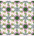 hand drawn seamless autumn floral flower pattern vector image
