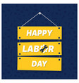 happy labor day on blue patterened background vector image vector image