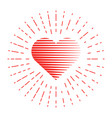 heart and red lines around vector image vector image