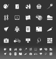 Hobby icons on gray background vector image vector image