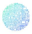 internet security line circle design vector image vector image
