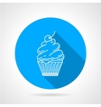 Line icon for muffin vector image vector image