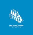 milk delivery service logo vector image vector image