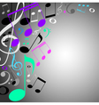 musical background note vector image vector image