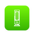 oil heater icon green vector image vector image