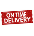 on time delivery sign or stamp vector image
