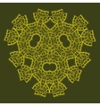 Oriental ornamental triangle mandala of green vector image vector image