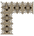 ornamental floral vintage frame design vector image