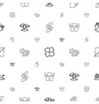 palm icons pattern seamless white background vector image vector image
