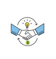 partnership and handshake concept shaking hands vector image
