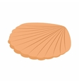Pearl shell icon isometric 3d style vector image vector image