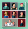 people flat icon set vector image vector image