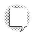 pop art speech bubble dialogue element halftone vector image vector image