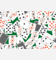 seamless pattern with playing cards vector image vector image