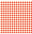 Seamless retro white-red square tablecloth vector image
