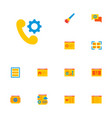 set of wd icons flat style symbols with portfolio vector image vector image