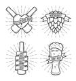 set t-shirt beer prints vintage vector image vector image