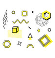 set with trendy geometric shapes retro funky vector image vector image