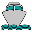 ship cruise isolated icon vector image vector image