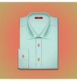 shirt with polka dots vector image vector image