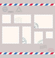 small post stamps vector image vector image