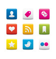 social media icon sets vector image vector image