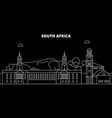 south africa silhouette skyline city vector image vector image