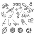 sports vintage hand drawn vector image