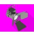 Studio light isometric flat vector image vector image
