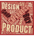 The Cafepress idea of gifts and home business text vector image vector image