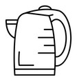 transparent kettle icon outline style vector image vector image