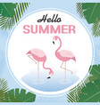 tropical card to welcome the summer vector image