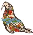 Walrus skeleton vector image vector image