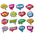 web chat stickers templates internet words vector image vector image