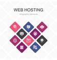 web hosting infographic 10 option color design vector image vector image