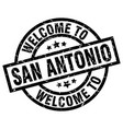 welcome to san antonio black stamp vector image vector image