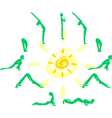 Yoga sequence Sun Salutation vector image