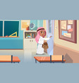 arab boy opening school door in classroom muslim vector image