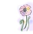 Digital watercolor flower poppy vector image
