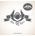 Fitness club logo template vector image