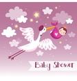 Cartoon baby background vector image