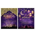 ramadan kareem greeting card and poster design vector image