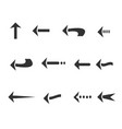 12 arrow icon cartoon style isolated background vector image