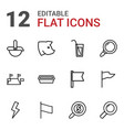 12 collection icons vector image vector image