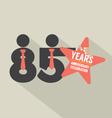 85 Years Anniversary Typography Design vector image vector image