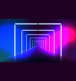 abstract night club laser show corridor interior vector image