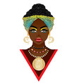 african woman in turban vector image
