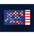 american flag style vector image vector image
