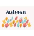 autumn calligraphy seasonal letteringweb banner vector image vector image