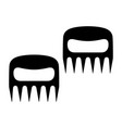 bear paws barbecue forks vector image vector image